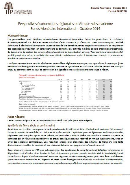 perspectives economiques en afrique   rapport semestriel du fmi